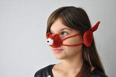 Items similar to Crochet fox nose warmer and ear warmers, cozy gift for kids, fun party props, photo prop on Etsy Crochet Mask, Crochet Fox, Nose Warmer, Funny Hats, Party Props, Little Bag, Kids Fun, Ear Warmers, Best Part Of Me