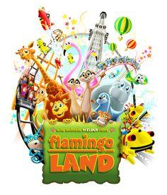 Flamingo Land - Theme Park Illustrations by Lee Daniels, via Behance