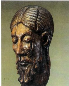 """The Christ of Louvain, St Peter's Basilica. 12th-13th century. This is the only surviving piece of a crucifix """"Brown or Curve Christ"""""""