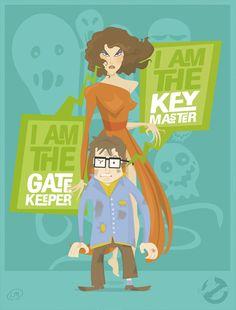 Ghostbusters' Gatekeeper & keymaster