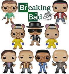 Bonecos Funko Pop! Breaking Bad: Walter White, Heisenberg, Jesse Pinkman, Saul, Hank, Mike e Gus Fring!