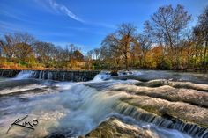 waterfall old fort park stones river greenway system murfreesboro tennessee ...