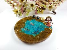 Anny's workshop手作押花杯墊,多多龍杯墊 - 奔跑的小梅, Handmade Coaster, Pressed flower Coaster, TOTORO, となりのトトロ