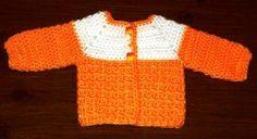 Simple Baby Sweater free crochet pattern