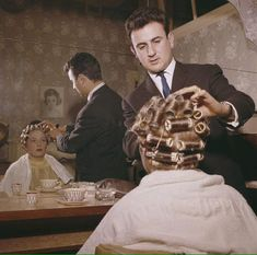 """My Mother loved it when Ralph would do my """"do"""" in the Salon. A man doing a man's hair-do is just too cute."""
