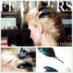 Feather Hair Pins DIY Feature