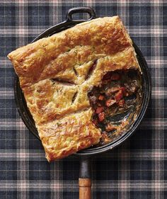 Beef and Beer Potpie  - Skillet Dinner - from Real Simple Magazine