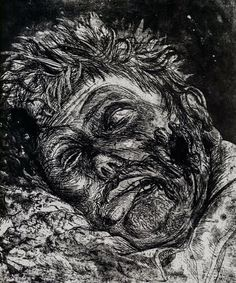 Last photo for me on  @virtute_art  Otto Dix Dead Man (Saint Clement) 1924   Terrible image of a dead man painted by the expressionist artist #OttoDix. He created a lot of image after WWI. Like #Goya his goal was to show the horror of war destruction chaos. Art is a way for him to express what he feels but at a large scale it's a way to raise people consciousness   Curation of @virtute_art by @fredericclad on the Topic : #ArtAfterTheBody. Artists ? Submit your work : use #Virtute and Tag us