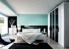 Dormitorio claro azul