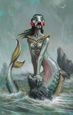 Mermaids in Fantasies of Various Artists