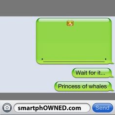 15 Clever iPhone Whales You Can Make - Autocorrect Fails and Funny Text Messages - SmartphOWNED