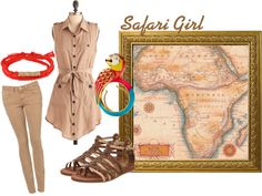 """Safari GIrl"" by angiebailey13 on Polyvore"
