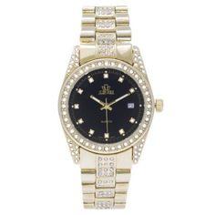 Jean Paul 37mm Gold, Diamond Ice Men's Watch