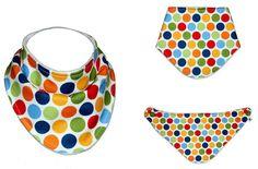 Free Sewing Pattern: Handkerchief Bandana Bib – Size NB – 18m