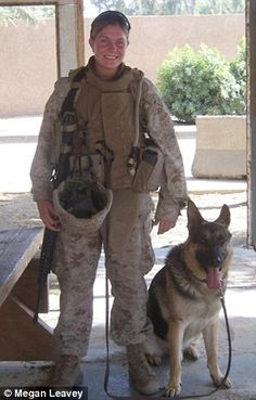 "Corporal Megan Leavey and ""Sergeant Rex"""