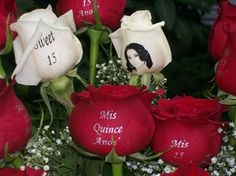 quinceanera centerpieces for tables | Quinceanera 12 Rose Bouquet from Speaking Roses Of Chicago