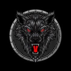 angry wolf head in circle ornament vector illustration Tribal Wolf Tattoo, Wolf Tattoo Sleeve, Tribal Tattoos, Cop Tattoos, Wing Tattoos, Celtic Tattoos, Chest Tattoo, Sleeve Tattoos, Lobo Tribal