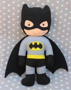 Batman muñeco de fieltro regalo superheroe superheroe por Pittitus