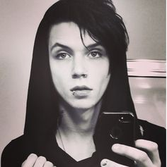 ♥ Andy Biersack ♥..  I really like him.. listening to him makes me feel worlds better.