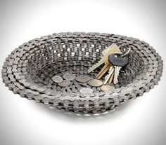 Recycled Bike Chain Bowl