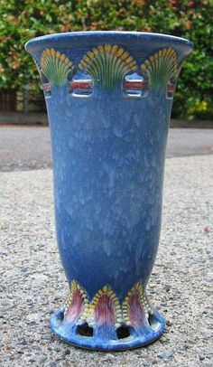"Roseville Pottery - ""Blue Ferella"" - wow, haven't seen this pattern is blue - on my wish list"