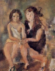 Clara and Genevieve by Jules Pascin #art