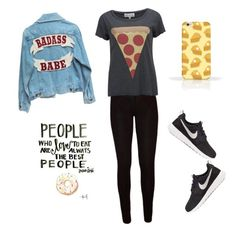 """""""Food"""" by deliaaaaaa ❤ liked on Polyvore featuring Wildfox and NIKE"""