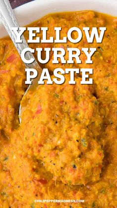 Yellow Curry Recipe, Yellow Curry Paste, Spicy Chicken Recipes, Curry Recipes, Curry Sauce Recipe Indian, Indian Food Recipes, Asian Recipes, Amazing Food Videos, Dips