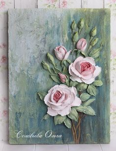 4 Simple and Creative Ideas: Shabby Chic Chambre shabby chic crafts sewing. Sculpture Painting, 3d Painting, Texture Painting, Shabby Chic Painting, Shabby Chic Decor, Clay Crafts, Arts And Crafts, Plaster Art, Mural Art
