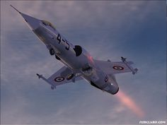 F-104 Starfighter. Missile with a man in it