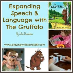 Expanding Speech language with Gruffalo. Has a link to free activities--finger puppets, masks and matching cards. Under 'join in', then 'activities' on the Gruffalo website. Gruffalo Eyfs, Gruffalo Activities, The Gruffalo, Language Activities, Literacy Activities, Therapy Activities, Activities For Kids, Gruffalo Party, Emergent Literacy