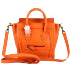 7606093e8a Celine 88029 Orange Celine Handbags