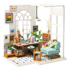 Robotime DIY Soho Time with Furnitures Children Adult Miniature Wooden Doll House Model Building Kits Dollhouse Toy Gift Price: & Shipping Worldwide Dollhouse Toys, Wooden Dollhouse, Wooden Dolls, Dollhouse Furniture, Dollhouse Miniatures, Diy Furniture, Miniature Furniture, Cabin Dollhouse, Wooden Cabinets