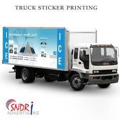 Truck Sticker Printing  visit : www.SndriAd.com Sticker Printing, Truck Stickers, Graphic Design Services, Booklet, Service Design, Trucks, Prints, Truck Decals, Truck