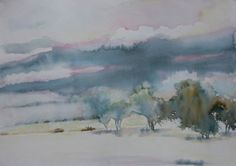 Karroo landscape. Watercolor Landscape, Watercolors, Illusions, South Africa, Paintings, Drawings, Pictures, Abstract Watercolor, Abstract