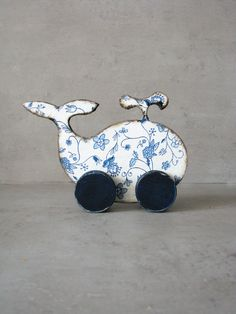 Wooden toy Baby shower white blue whale, wooden home decor, rustic blue and navy blue, wheeled toy by Grimme on Etsy https://www.etsy.com/listing/195908793/wooden-toy-baby-shower-white-blue-whale