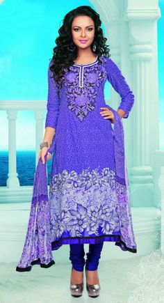Exotic Mystic Blue #Salwar #Kameez