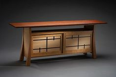 Home Furniture Design of Folie Cherry and Bubinga Buffet by Brian Hubel Craftsman Furniture, Cabinet Furniture, Fine Furniture, Unique Furniture, Furniture Projects, Custom Furniture, Furniture Design, Woodworking Inspiration, Furniture Inspiration