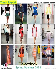 Colorblock Fashion #Trend for Spring Summer 2014 #Spring2014 #Colors #Trends