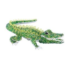 Grass Roots Creations Gator Beadworx Sculpture, Green by Grass Roots Creations. $32.46. Affordable work of art. Hand beaded, hand sculpted. Piece resist rust and corrosion and are great inside or out. Measures 11-inch long by 8-inch wide by 3-inch high. Beads are high quality non fading or cracking glass and acrylic. Grass Roots Creations Green Gator Beadworx Sculpture. This whimsical hand crafted piece of beaded sculpture is inspired by nature. The Beadworx process is an intrica...