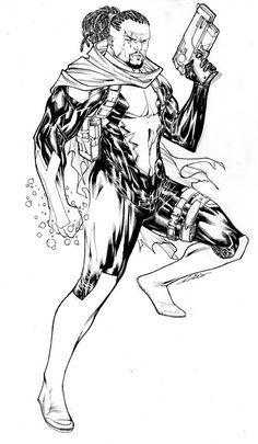 Bishop by Guile Sharp X Men, Sketching, Marvel Comics, Champion, 1, Drawings, Sketches, Drawing, Sketch