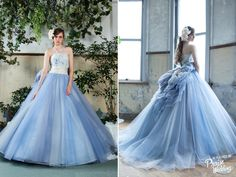 This obsession-worthy blue tulle gown from Hirotaisho is downright droolworthy!