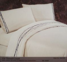 Rustic Western Embroidered Barbwire Sheet Set Queen - pretty but $140 bucks! SF