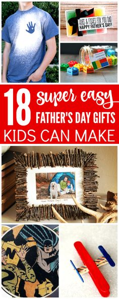 Here are 18 Easy Fathers Day Gifts Kids Can Make that dad will definitely love and the kids will have tons of fun making! Check them out below and get ready for Fathers Day!