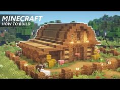 Minecraft Horse Stables, Minecraft Barn, Minecraft Houses Survival, Minecraft Cottage, Cute Minecraft Houses, Minecraft Houses Blueprints, Minecraft Plans, Minecraft House Designs, Minecraft Construction