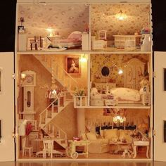 littlesplay: like the stairs in this house    (via Wooden Dollhouse Miniature DIY/ Roombox Victorial by mini666)