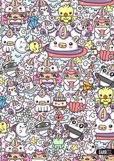 #kawaii #unicorn World by Garbi KW #GKW #art