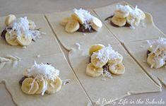 Nutella Banana Coconut Hot Pockets