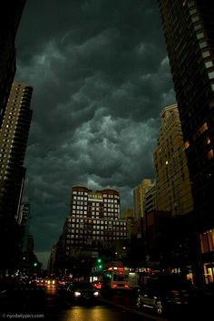 Twitter user NYC Daily Pictures (@NYC Photos) posted the following photo of the storm above the Upper East Side of Manhattan.