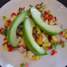 "Crab & Avocado Salad with Fruit Salsa I ""Made this for a ""all-girls"" lunch & it was the biggest hit!"""